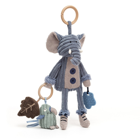Slika Jellycat® Aktivnostna plišasta igračka Cordy Elephant 28x9