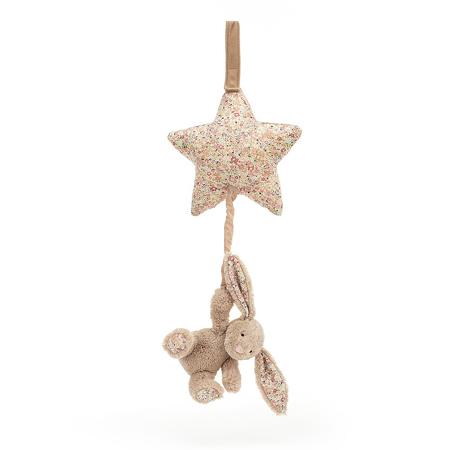 Jellycat® Glasbena obešanka Blossom Bea Beige Bunny 28cm