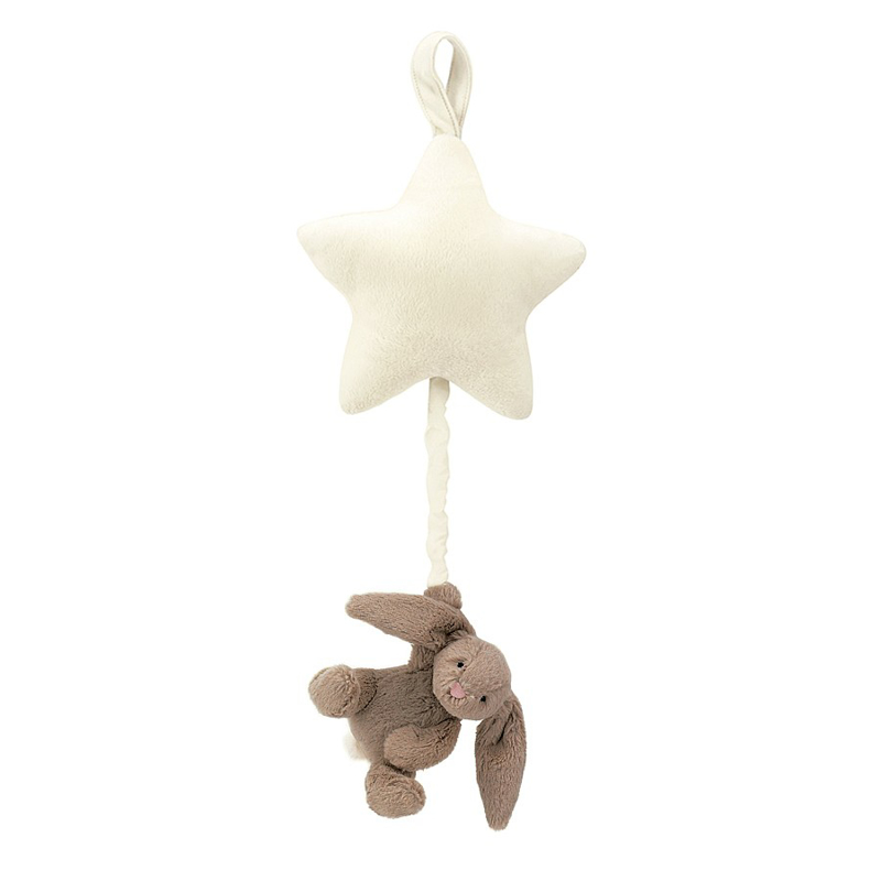 Jellycat® Glasbena obešanka Bashful Beige Bunny 28cm
