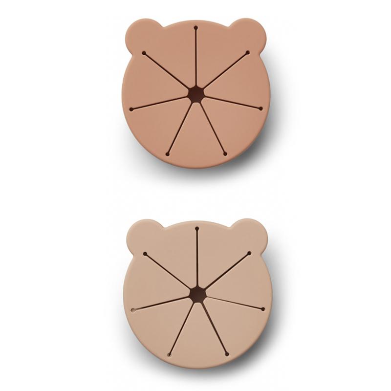 Liewood® Komplet 2 silikonskih skledic za prigrizke Kelly Mr Bear Rose Mix