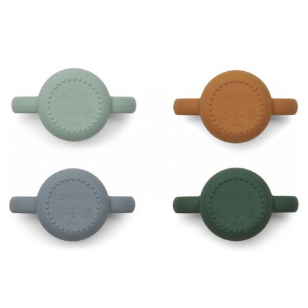 Liewood® Komplet 4 silikonskih skodelic za učenje pitja Gene Rabbit Multi Mix