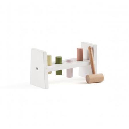 Slika Kids Concept® Lesena igračka s kladivom Edvin White