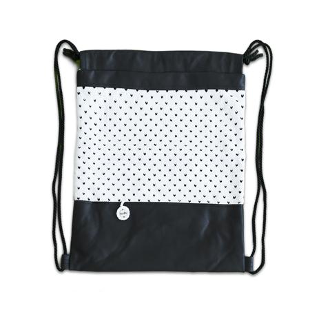 Slika Ksenka® Ročno izdelan nahrbtnik Hearts - Black & White