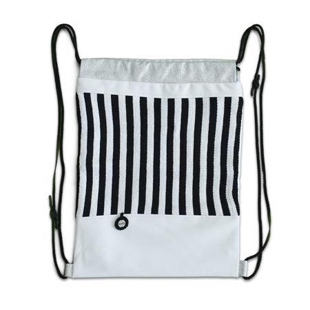 Slika Ksenka® Ročno izdelan nahrbtnik Stripes - Black & White