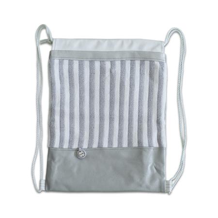 Slika Ksenka® Ročno izdelan nahrbtnik Stripes - Silver