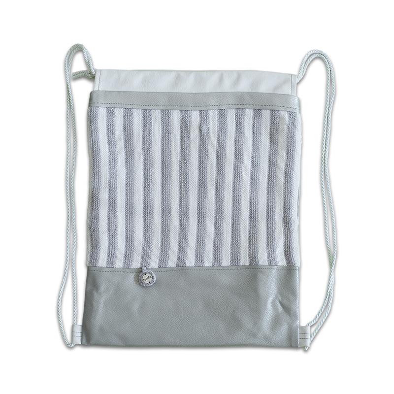 Ksenka® Ročno izdelan nahrbtnik Stripes - Silver