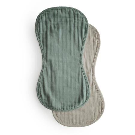 Slika Mushie® Komplet dveh tetra pleničk za podiranje kupčka Roman Green/Fog