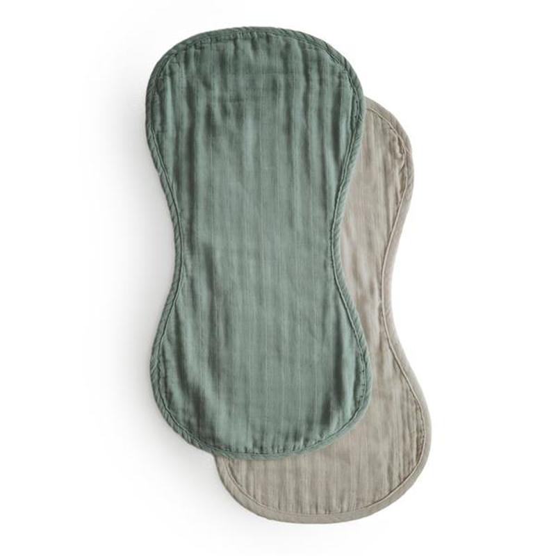 Mushie® Komplet dveh tetra pleničk za podiranje kupčka Roman Green/Fog
