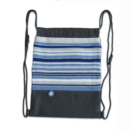 Slika Ksenka® Ročno izdelan nahrbtnik Lines - Grey Blue