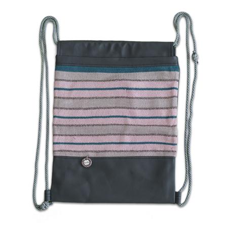 Slika Ksenka® Ročno izdelan nahrbtnik Lines - Grey Light Pink