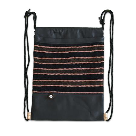 Slika Ksenka® Ročno izdelan nahrbtnik Lines - Black Copper