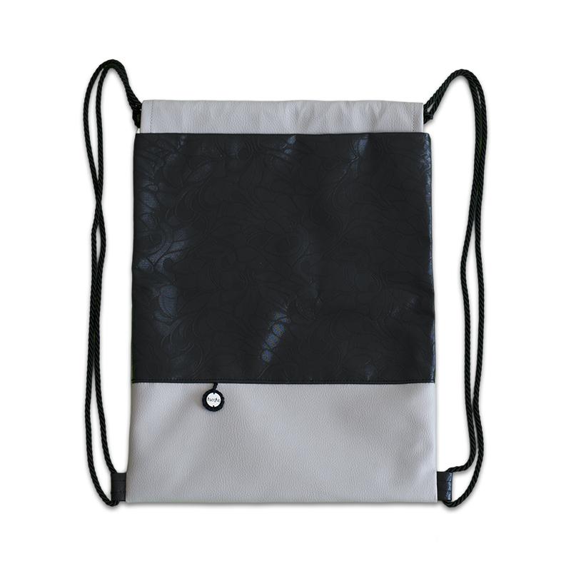 Ksenka® Ročno izdelan nahrbtnik Rustic - Beige Black