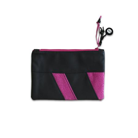 Slika Ksenka® Ročno izdelana toaletna trobica Black & Pink