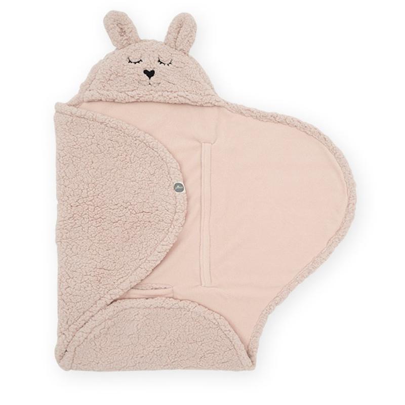 Jollein® Odeja za novorojenčke Bunny Pale Pink 105x100