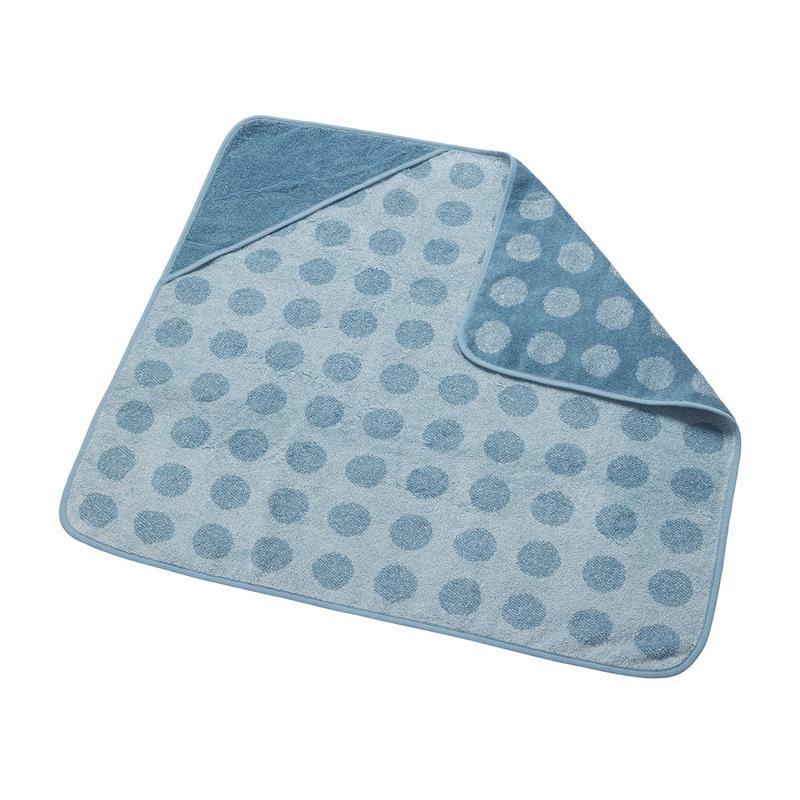 Leander® Bombažna brisača s kapuco Dusty Blue 80x80