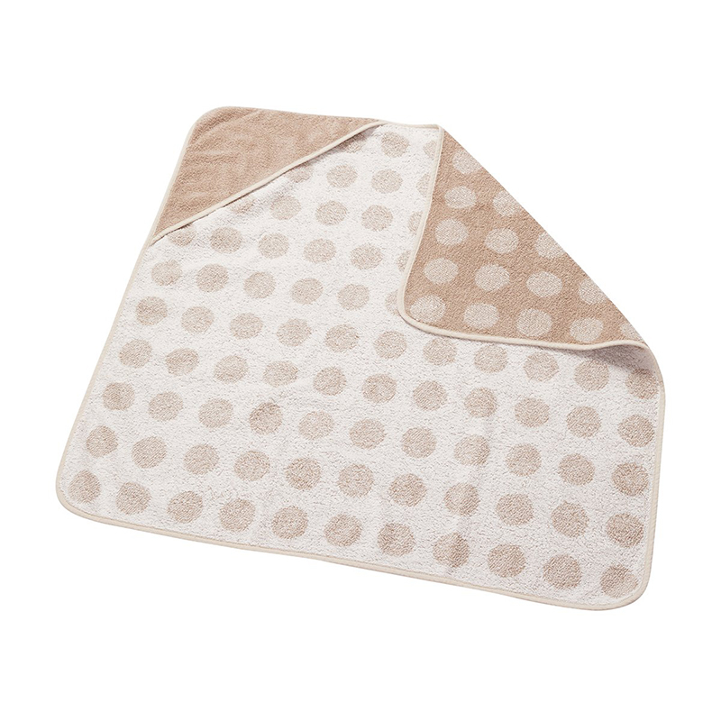 Leander® Bombažna brisača s kapuco Cappuccino 80x80