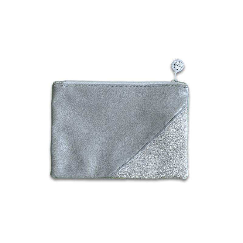 Ksenka® Ročno izdelana toaletna torbica Silver