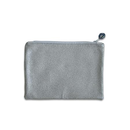 Ksenka® Ročno izdelana toaletna torbica Silver & White