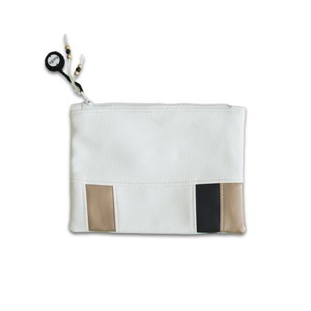 Slika Ksenka® Ročno izdelana toaletna torbica White & Copper