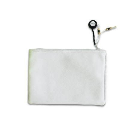 Ksenka® Ročno izdelana toaletna torbica White & Copper