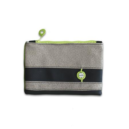 Ksenka® Ročno izdelana toaletna torbica Black & Copper Green