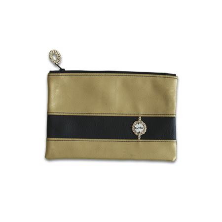 Ksenka® Ročno izdelana toaletna torbica Black & Gold