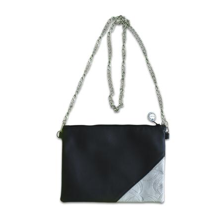 Ksenka® Ročno izdelana torbica Black & Silver