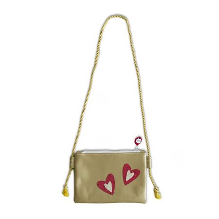 Slika Ksenka® Ročno izdelana otroška torbica Hearts Gold