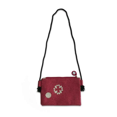 Slika Ksenka® Ročno izdelana otroška torbica Flowers Red