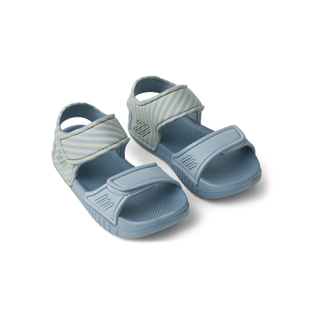 Slika Liewood® Sandali na ježka Blumer Stripe Sea Blue/Sandy