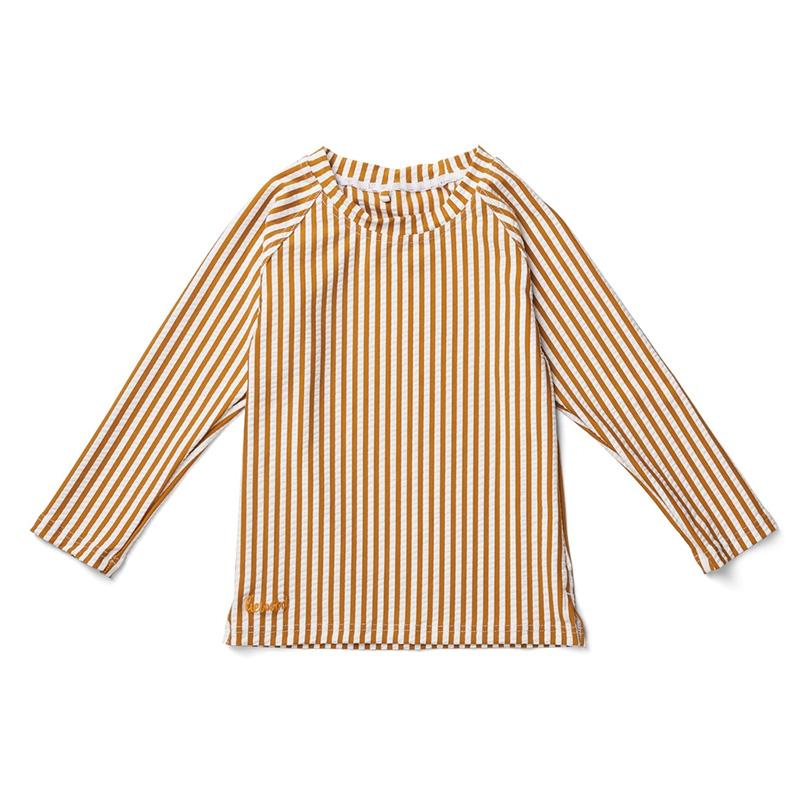 Liewood® Majica z UV zaščito Noah Stripe Mustard