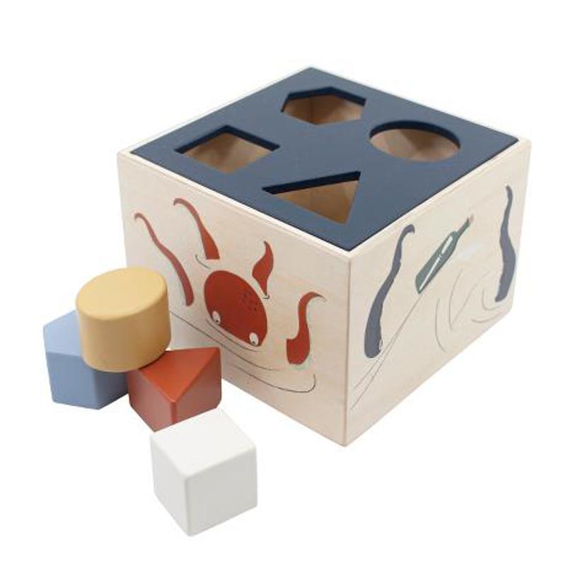 Sebra® Lesena kocka z oblikami Seven Seas