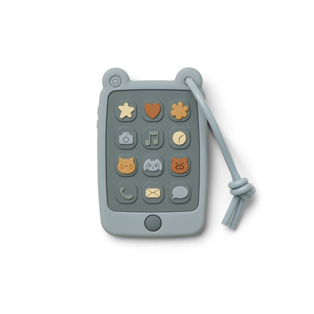 Slika Liewood® Aktivnostna igračka iz silikona Telefon Thomas Sea Blue