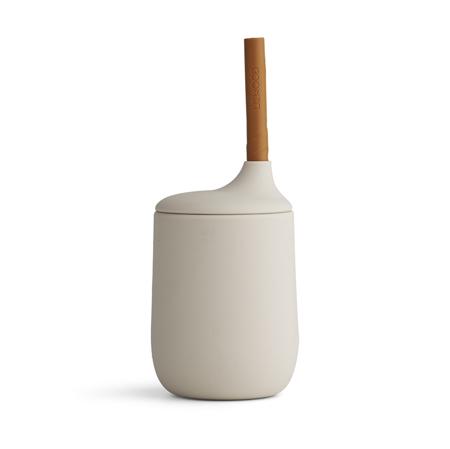 Slika Liewood® Silikonska steklenička s slamico Ellis Sandy/Mustard Mix