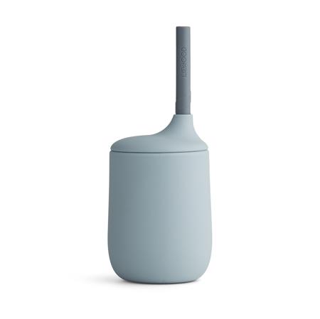 Slika Liewood® Silikonska steklenička s slamico Ellis Sea Blue/Blue Wave Mix