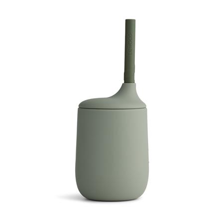 Slika Liewood® Silikonska steklenička s slamico Ellis Faune Green/Hunter Green Mix