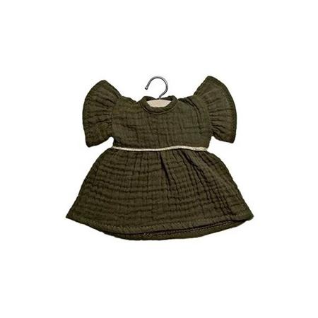 Slika Minikane® Obleka za punčke Daisy Kaki 32cm