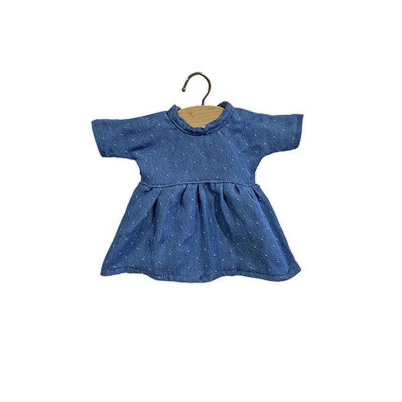 Minikane® Obleka za punčke Faustine Denim 32cm