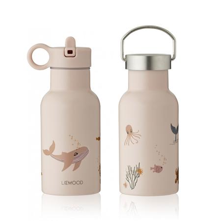 Liewood® Steklenička iz nerjavečega jekla Anker Sea Creature Rose Mix 350ml