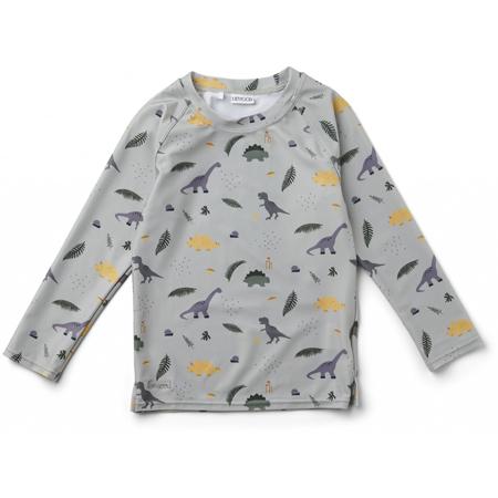 Liewood® Majica z UV zaščito Noah Dino Dove Blue Mix
