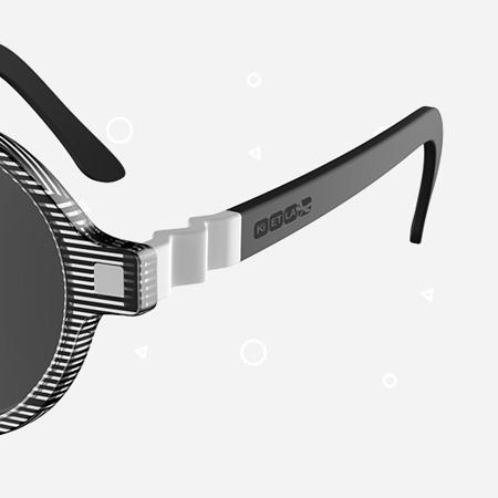 KiETLA® Otroška sončna očala Black Buzz 6-9L