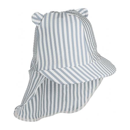 Slika Liewood® Klobuček z UV zaščito Senia Stripe Sea Blue/White