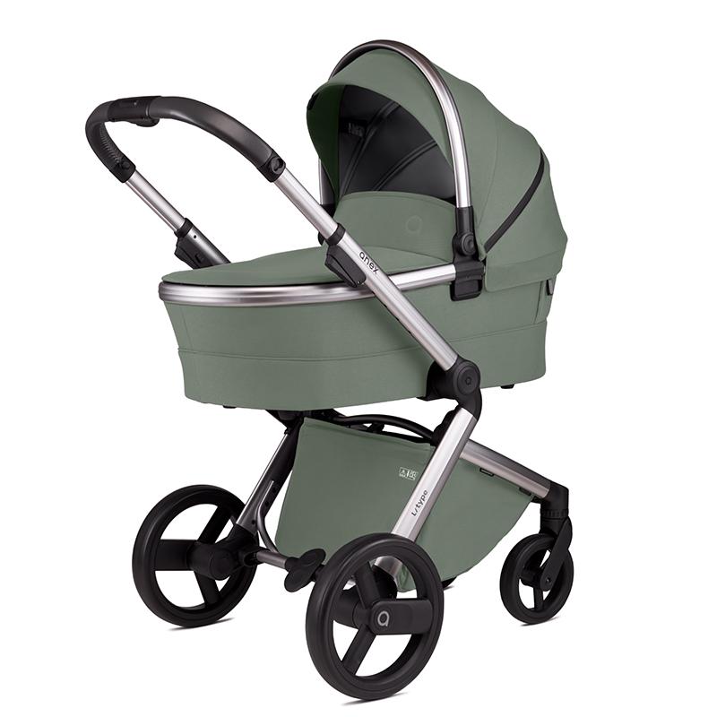 Anex® Otroški voziček s košaro 2v1 L/Type (0-22kg) Pesto