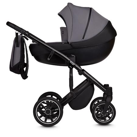 Anex® Otroški voziček s košaro in nahrbtnikom 2v1 M/Type (0-22kg) Iron