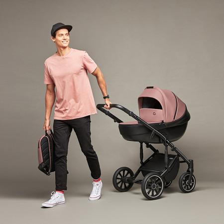 Anex® Otroški voziček s košaro in nahrbtnikom 2v1 M/Type (0-22kg) Mocco