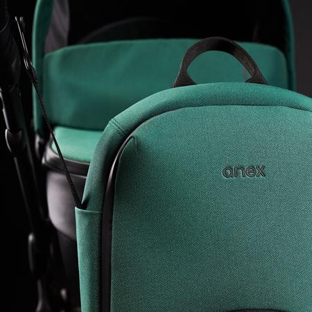 Anex® Otroški voziček s košaro in nahrbtnikom 2v1 M/Type (0-22kg) Lime