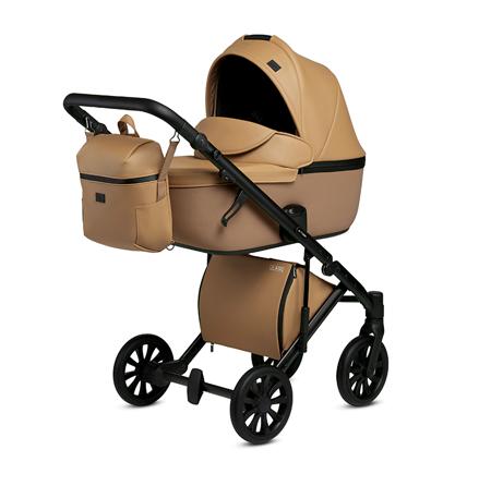 Slika Anex® Otroški voziček s košaro in nahrbtnikom 2v1 E/Type (0-22kg) Caramel