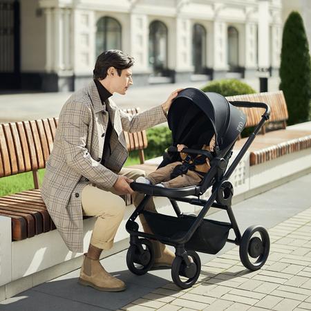 Anex® Otroški voziček s košaro 2v1 Quant (0-22kg) Water