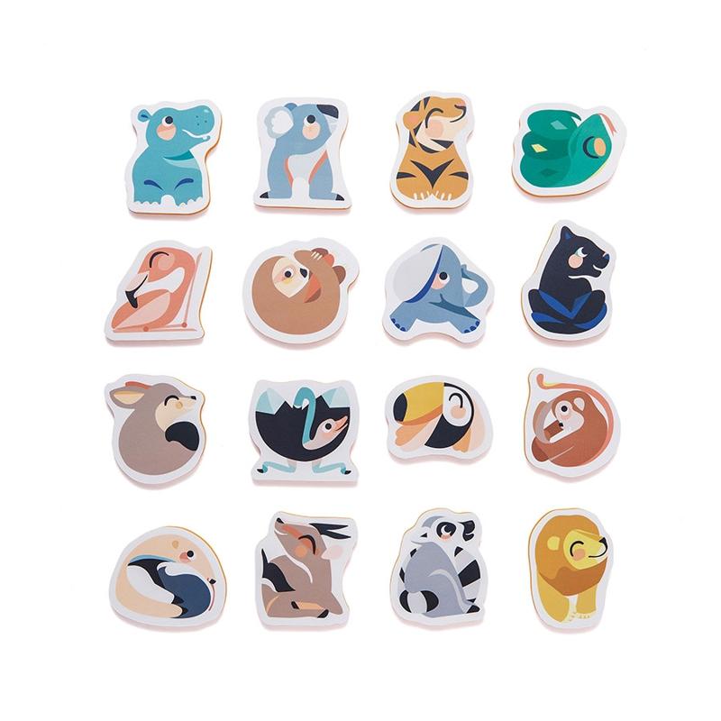 Petit Monkey® Penaste puzzle za kopel Wild Animals