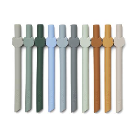 Slika Liewood® Silikonske slamice Badu Blue Wave Multi Mix 10 kosov